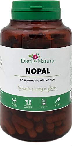 Nopal 200 cápsulas de Dieti Natura [Absorbe azúcares y grasas][Fabricado en...