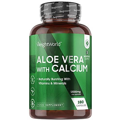 Aloe Vera Cápsulas Puro Concentrado Potente de 12000mg 180 Cápsulas Vegano -...