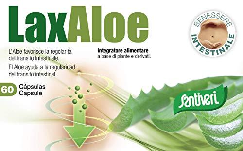 Complemento alimenticio Laxaloe de Santiveri: estuche de 60 cápsulas (22 gr) a base...