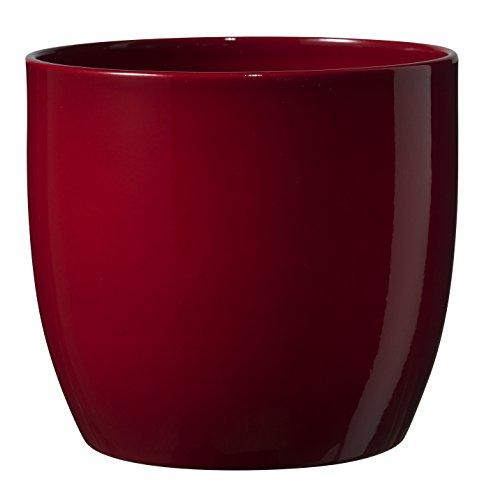 soendgen cerámica Flores Maceta, Basel Full Color, Arcilla, Burdeos, 14 x 14 x 13 cm
