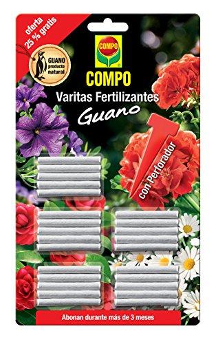 COMPO Varitas fertilizantes con guano para plantas de interior y exterior, Larga...
