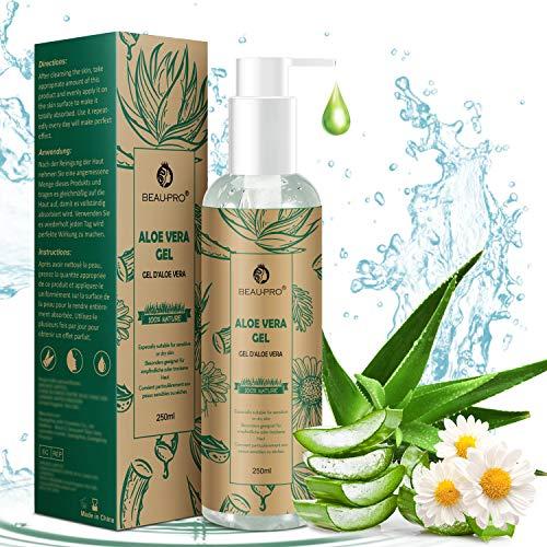 Gel de Aloe Vera con Manzanilla, 100% Natural Aloe Vera Crema para Hidratante para...