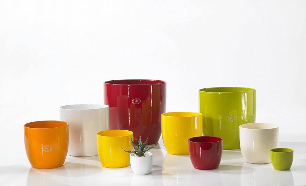 macetas colores ceramica